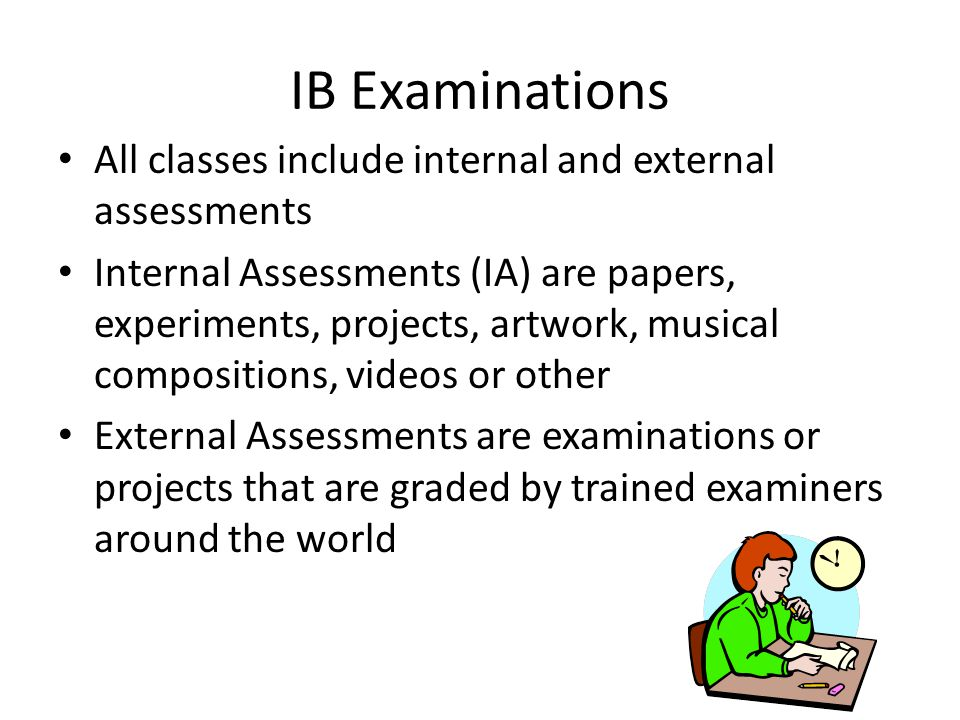 Is ther coursework on the IB?