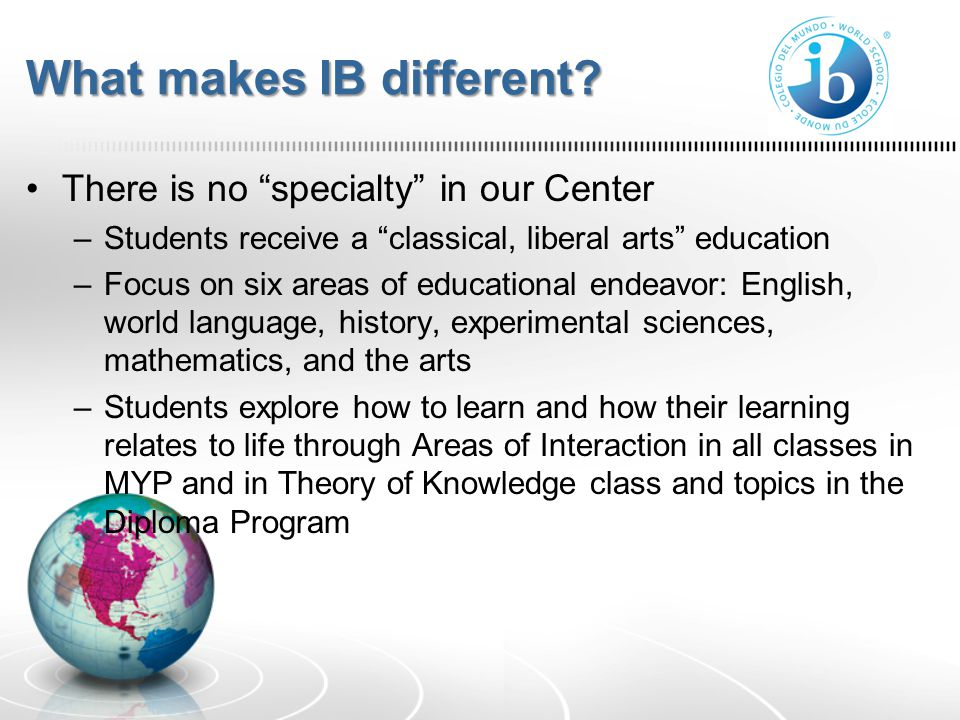 How does IB differ from other programs.AP vs. IBAP vs.
