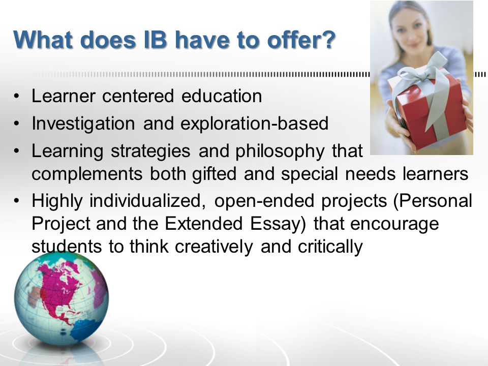 What does IB have to offer.