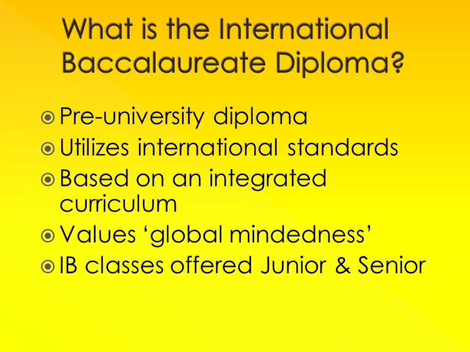 Founded in 1968, The International Baccalaureate Organization works with over 3300 schools in 141 countries to develop and offer challenging academic programs to over one million students.