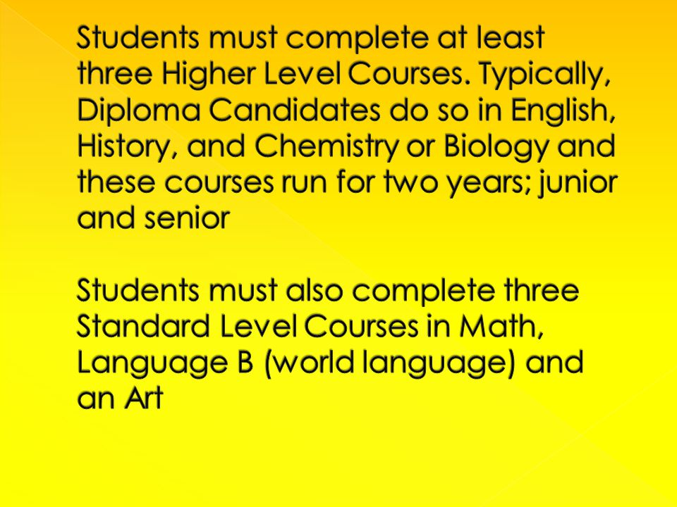 D IPLOMA C ANDIDATES C OURSE S EQUENCE 2013-14 9 TH GRADE