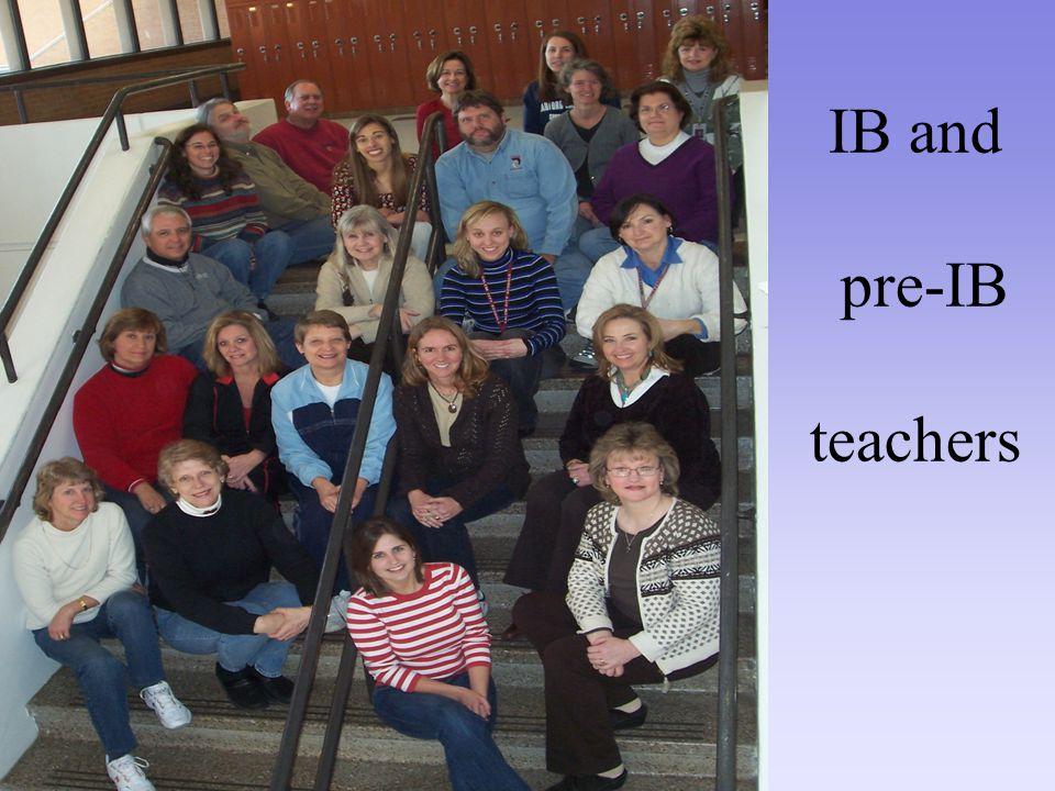 IB and pre-IB teachers