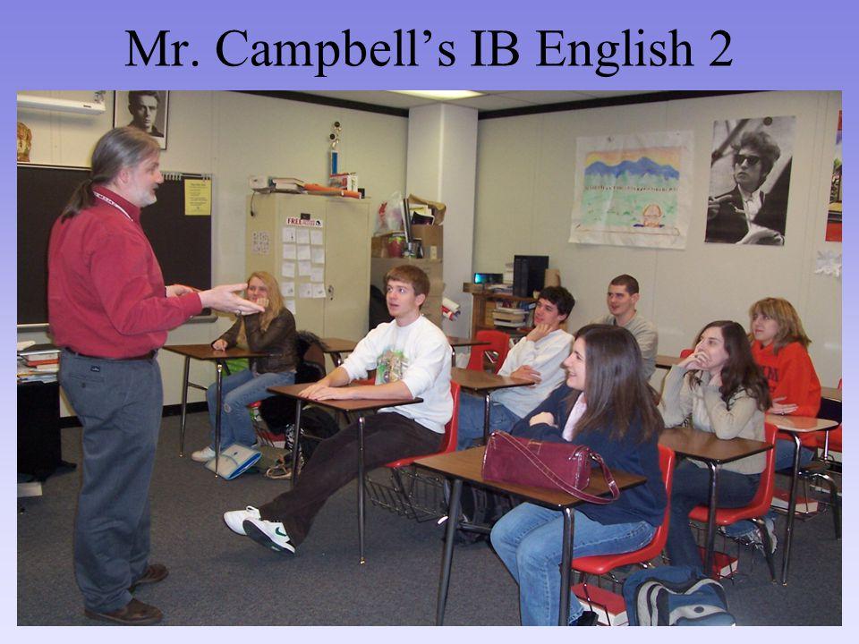 Mr. Campbell's IB English 2