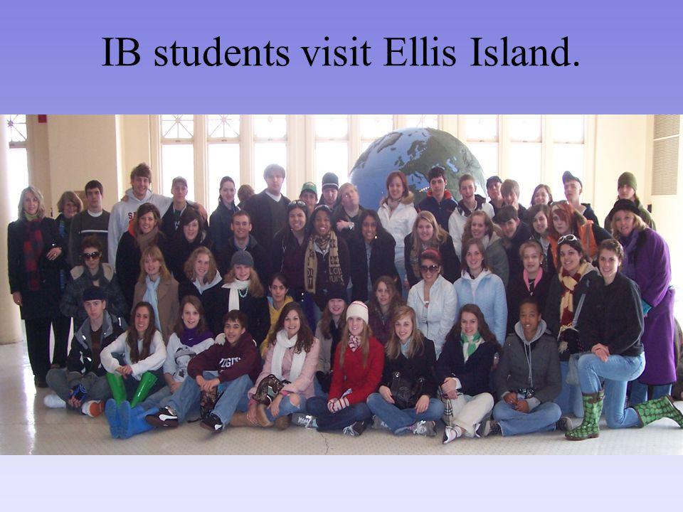 IB students visit Ellis Island.