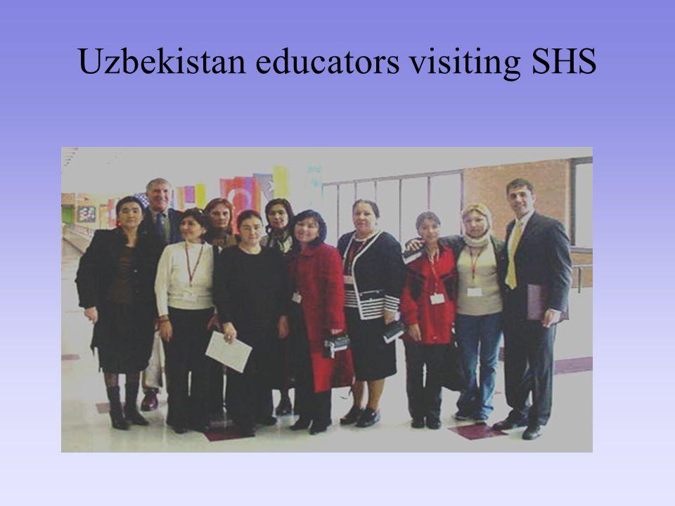 Uzbekistan educators visiting SHS