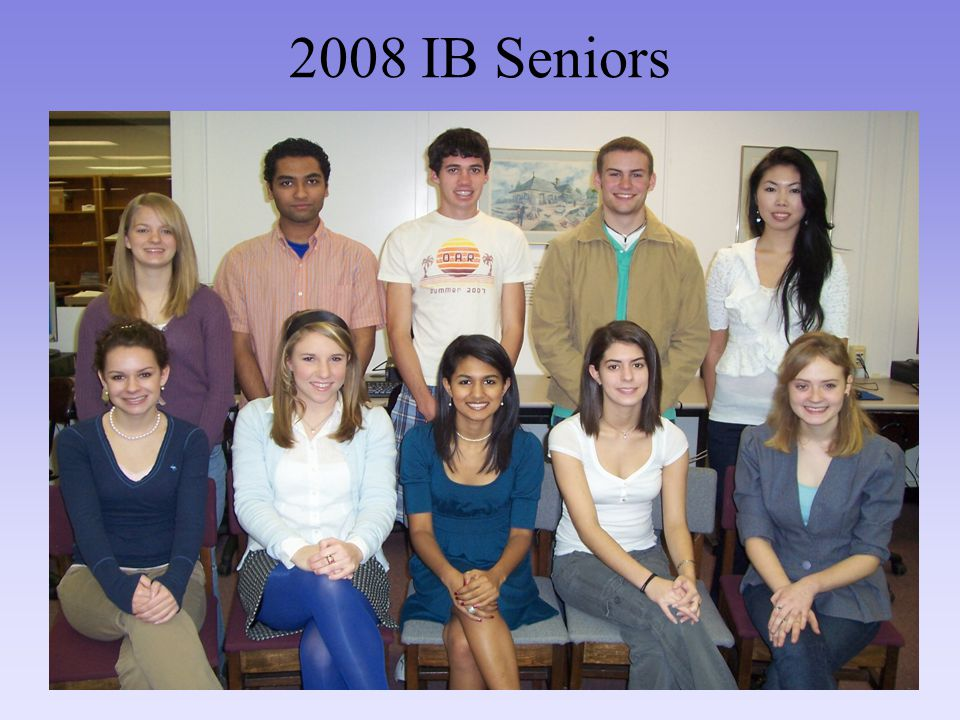 2008 IB Seniors
