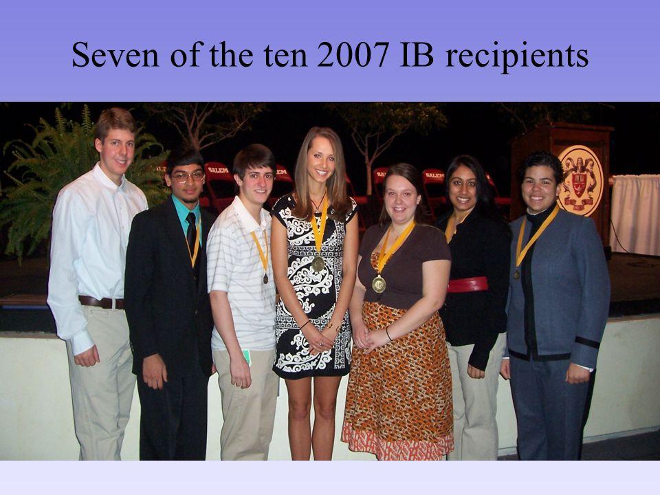 Seven of the ten 2007 IB recipients