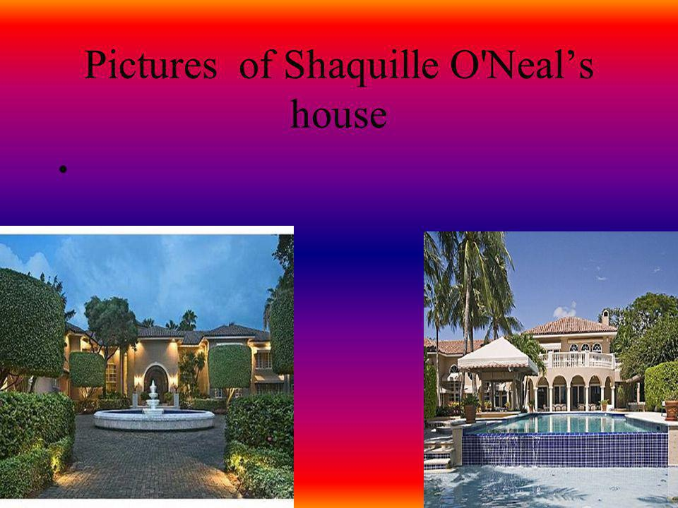 Pictures of Shaquille O Neal's house