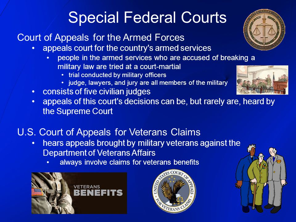 Court of Appeals for the Armed Forces appeals court for the country's armed services people in the armed services who are accused of breaking a milita