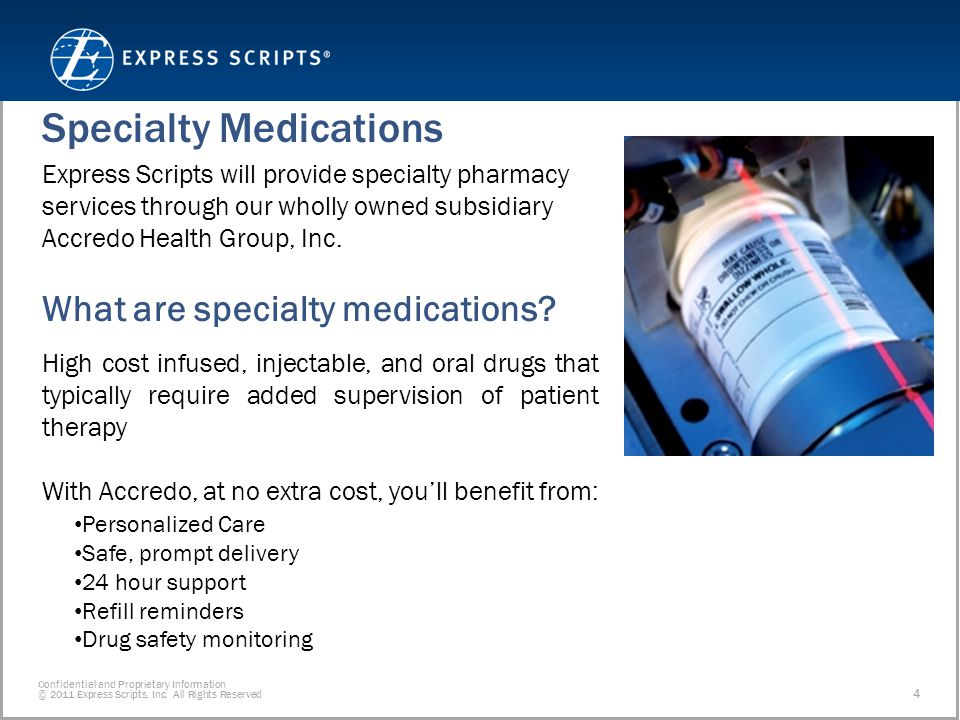 Confidential and Proprietary Information © 2011 Express Scripts, Inc.