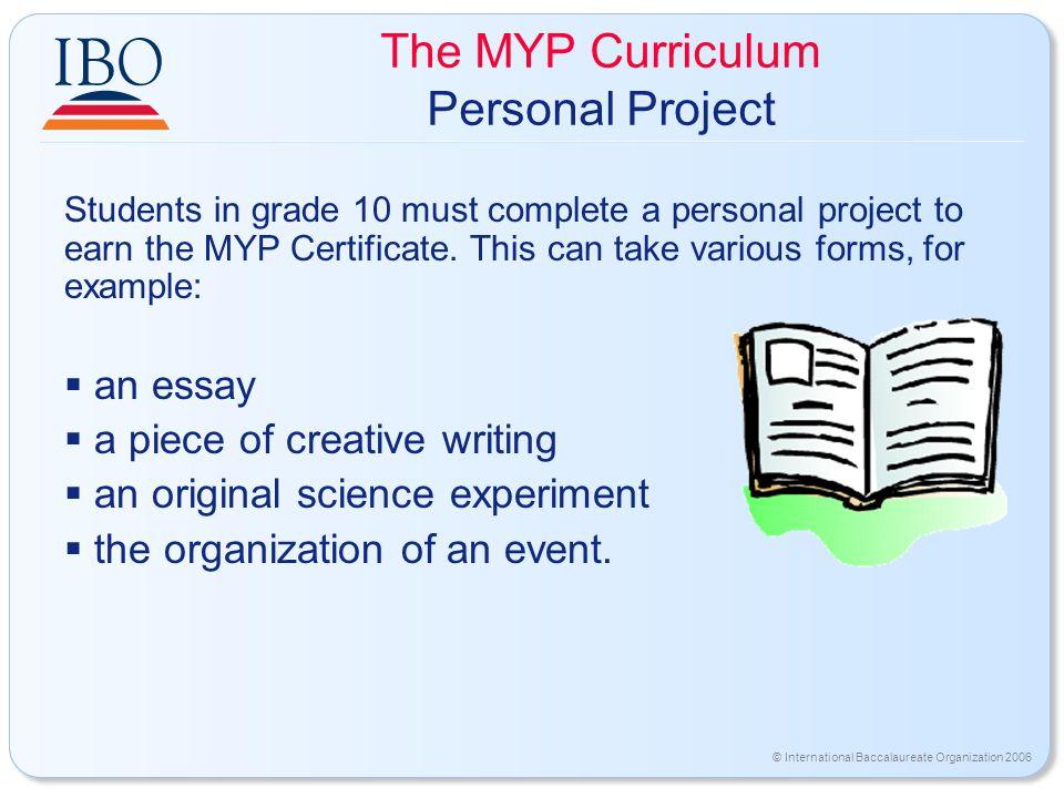 myp scientific essay