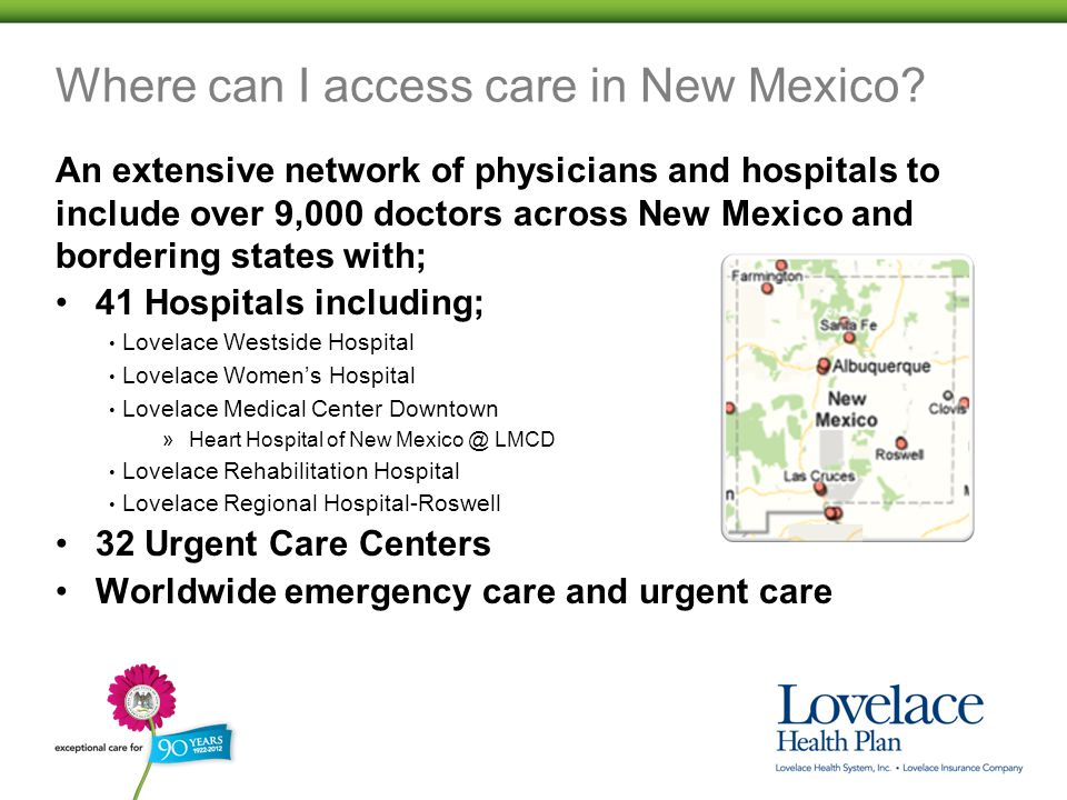 Where can I access care in New Mexico.