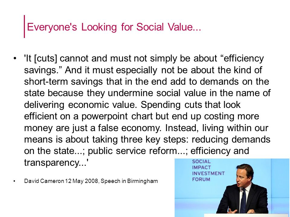 Everyone s Looking for Social Value...