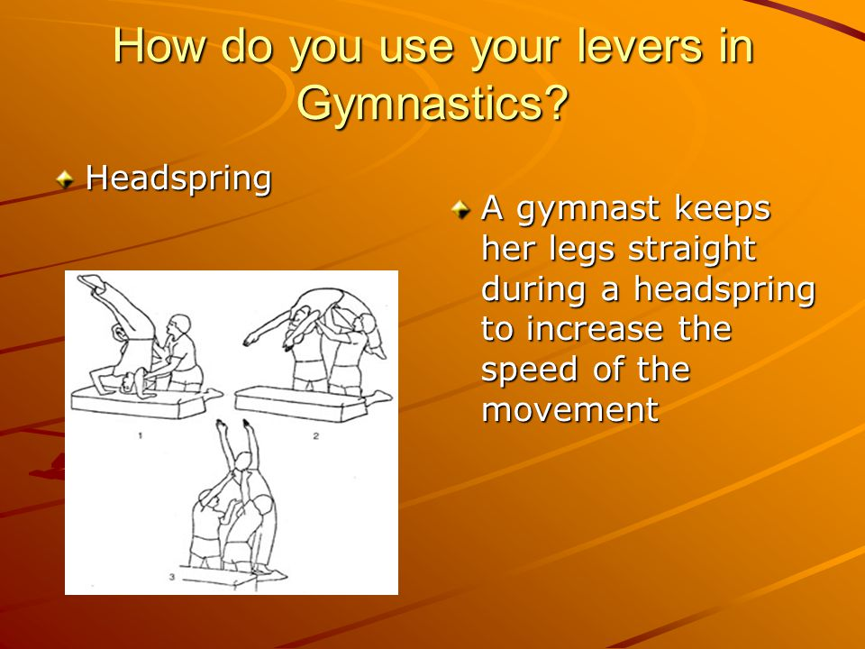 How do you use your levers in Gymnastics.
