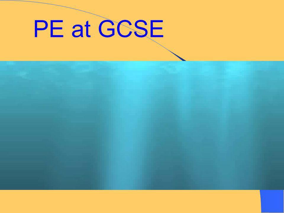 Robert Napier PE Department GCSE PE GCSE PE