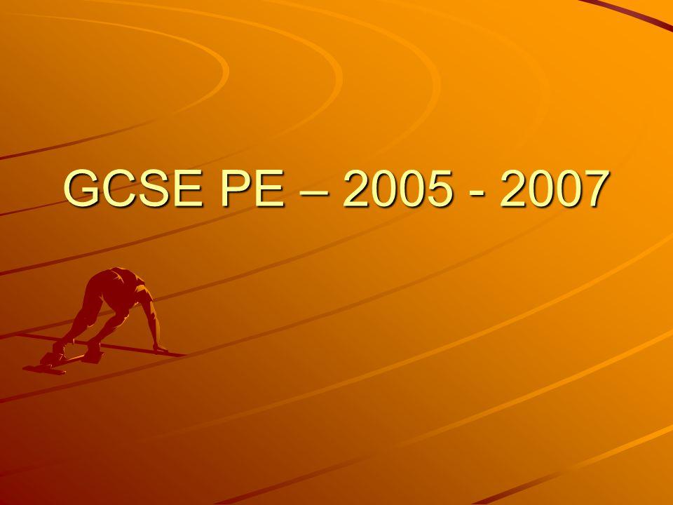 GCSE PE – 2005 - 2007