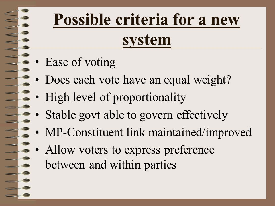 Representativeness PR will give a fairer reflection of how the nation voted.