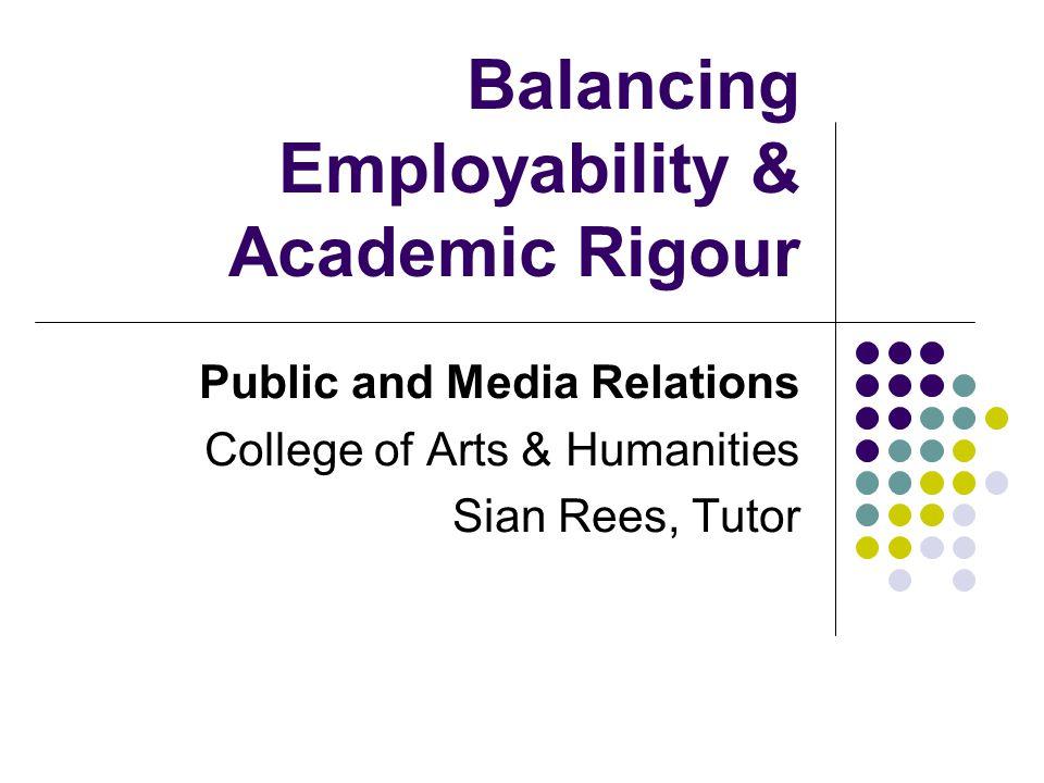 Employability v Academic Rigour