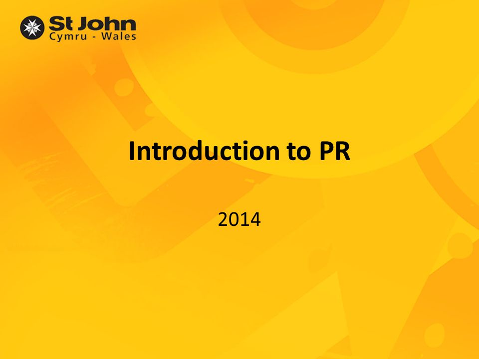 Introduction to PR 2014