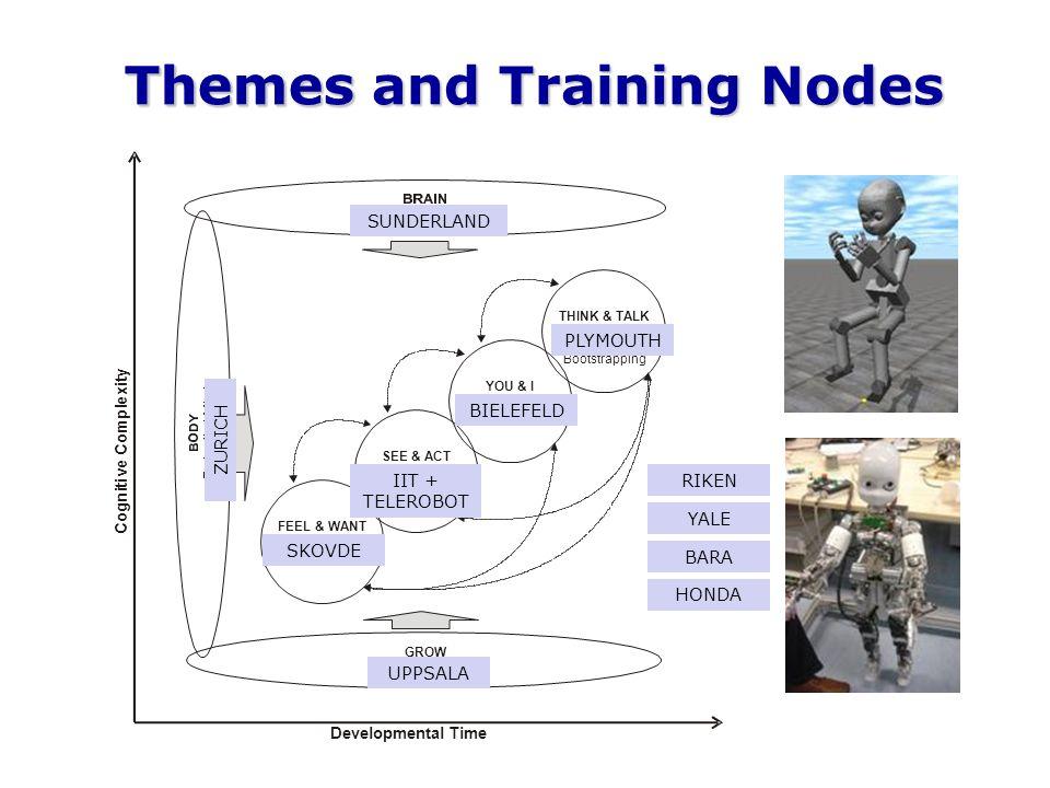 Themes SUNDERLAND PLYMOUTH BIELEFELD IIT + TELEROBOT SKOVDE UPPSALA ZURICH RIKEN YALE BARA HONDA Themes and Training Nodes