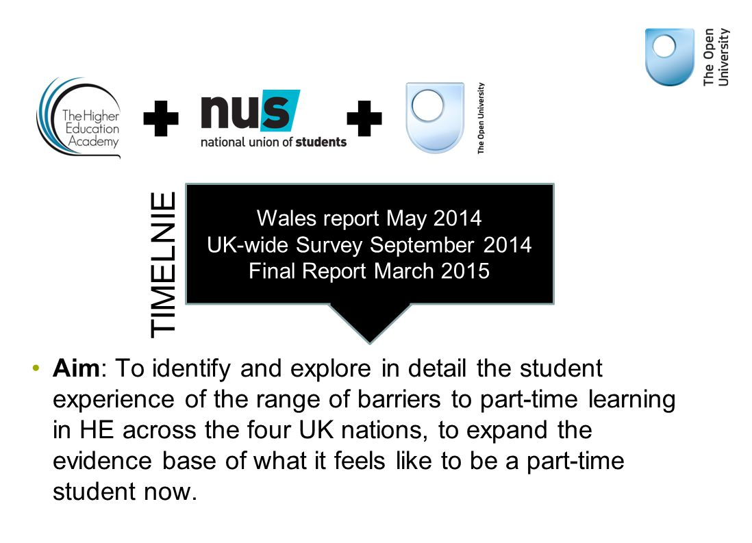 Aim: To identify and explore in detail the student experience of the range of barriers to part-time learning in HE across the four UK nations, to expand the evidence base of what it feels like to be a part-time student now.