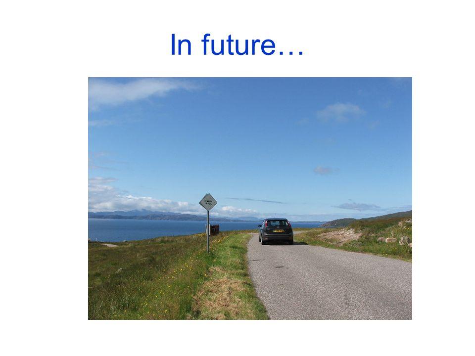 In future…