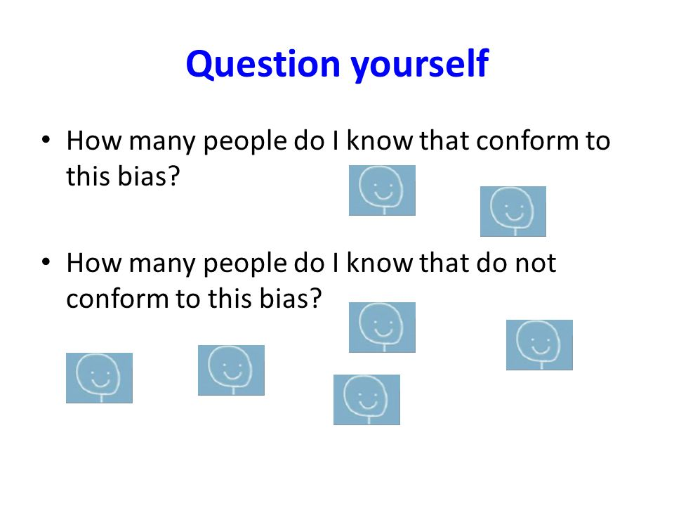 Changes to your organisation Encourage others to take an implicit bias test Discuss your results Have a frank conversation about they way you currently view people based on their age, gender, colour, religion, sexuality.