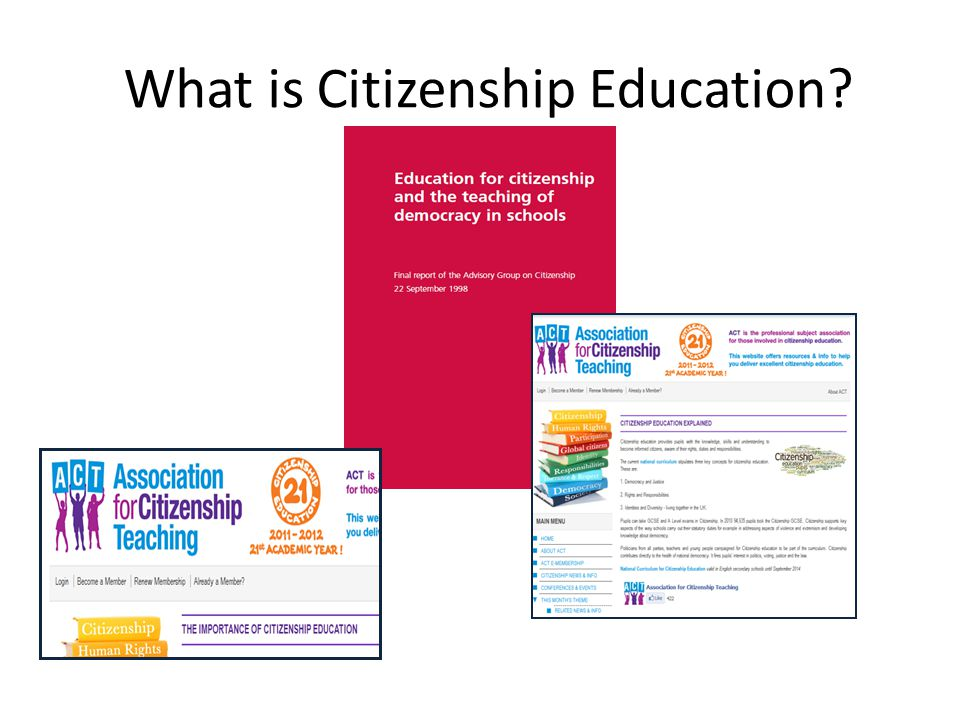What is Citizenship Education?