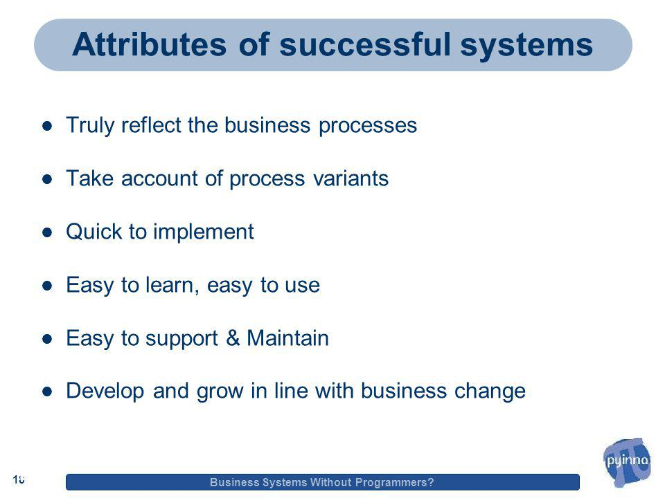 18 Business Systems Without Programmers.