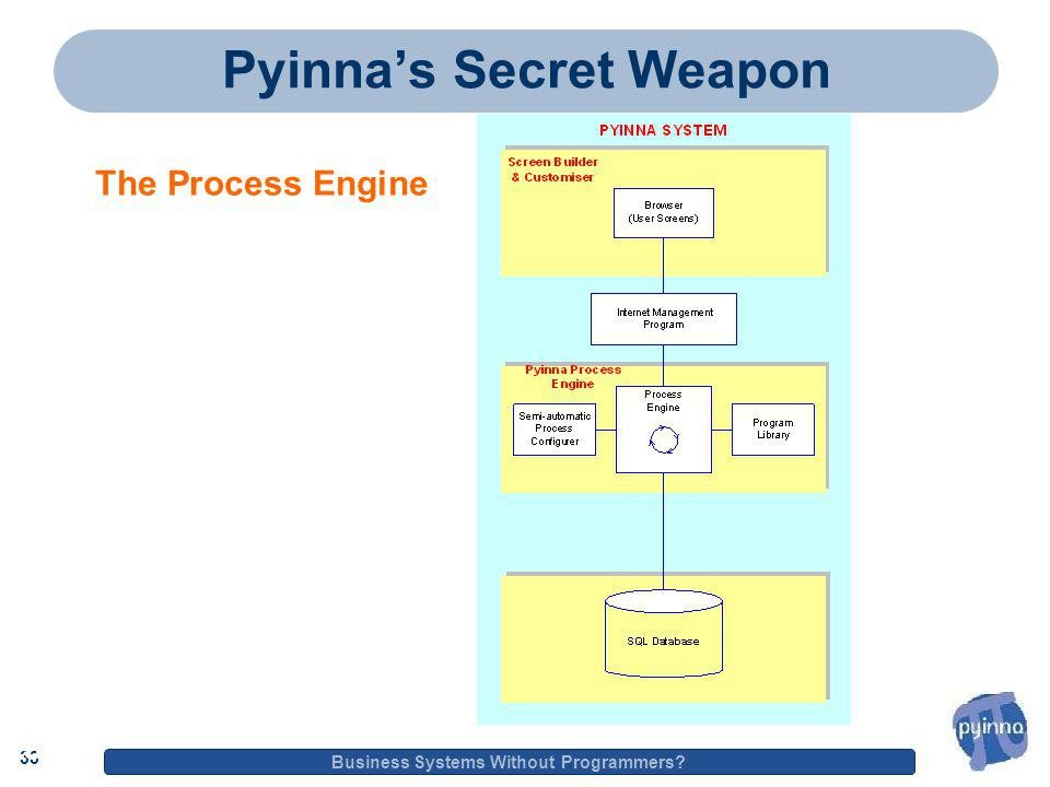 33 Business Systems Without Programmers 33 Pyinna's Secret Weapon The Process Engine