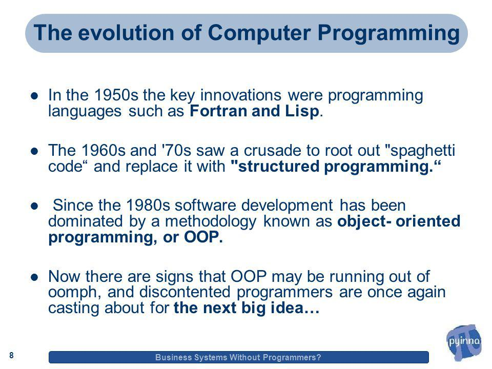 8 Business Systems Without Programmers.