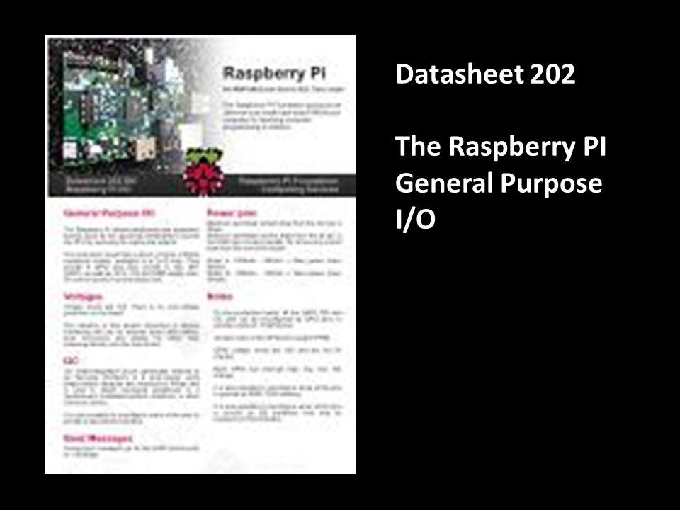 Datasheet 351 The Raspberry PI Accessories