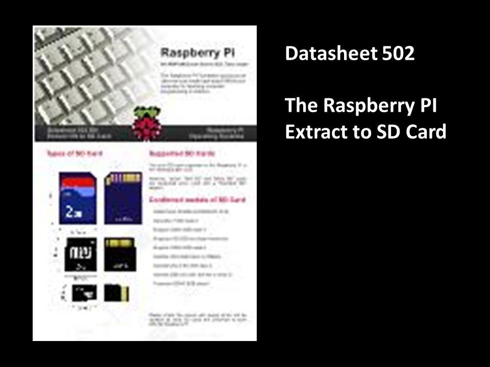 Datasheet 701 The Raspberry PI Space Invader Tutorial articles@ frambozenbier.org