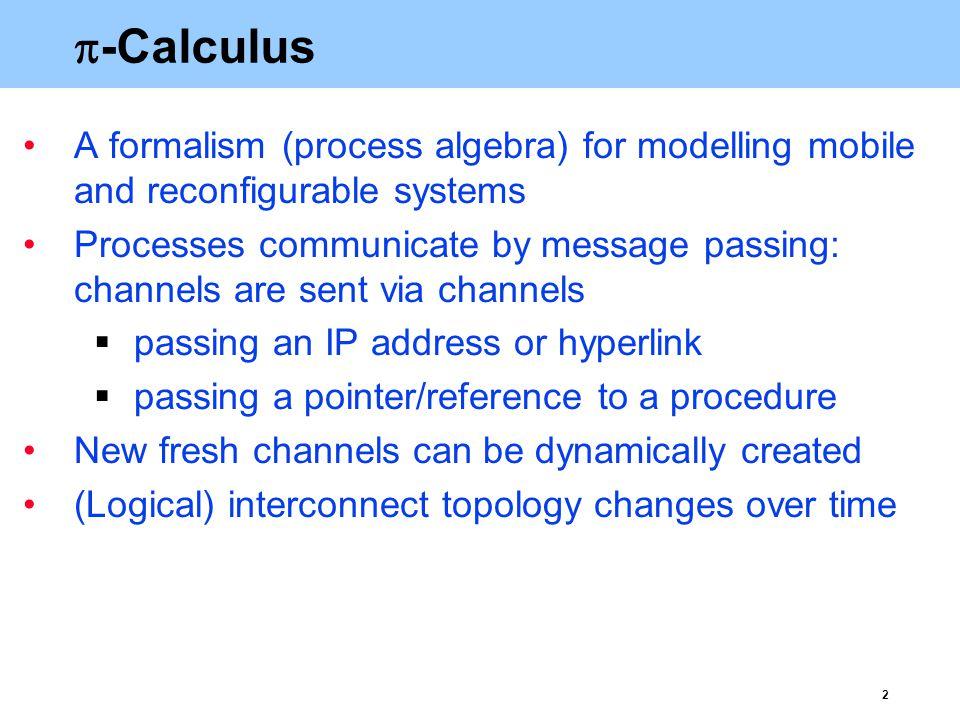 3  -Calculus: example P1P1 P2P2 P3P3 … Scheduler Task generators TG 1 TG 2 TG k … Array of processors
