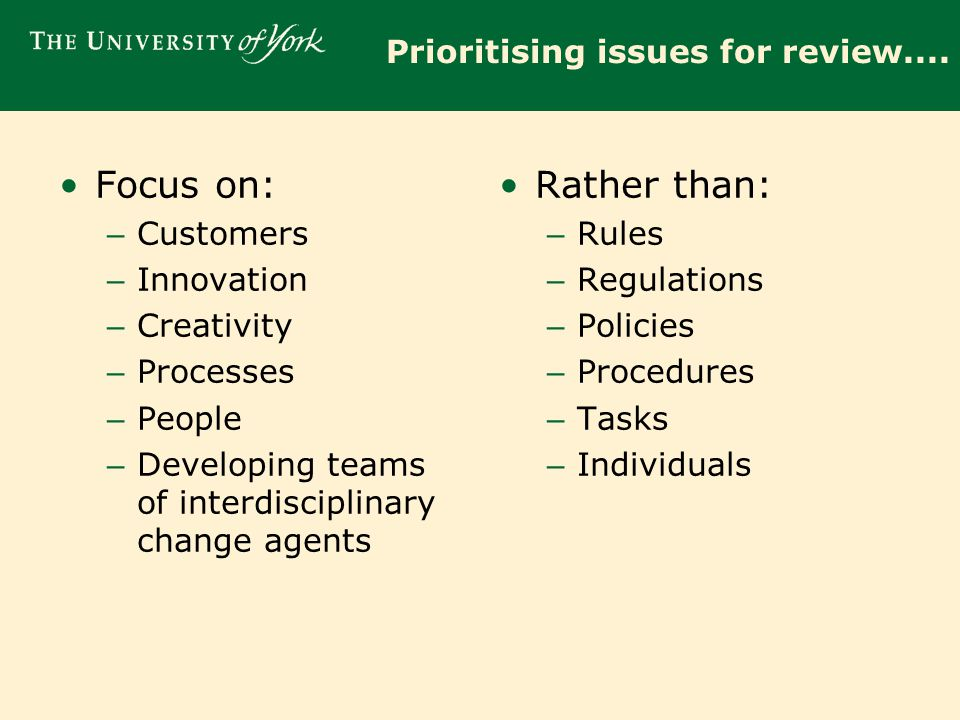 What 'Business' factors can we use to drive decision making (1).