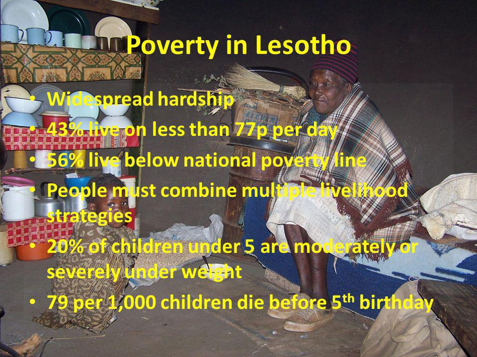 HIV/AIDS in Lesotho At 23.7%, Lesotho has the third highest adult HIV prevalence in the world.