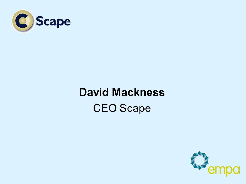 David Mackness CEO Scape