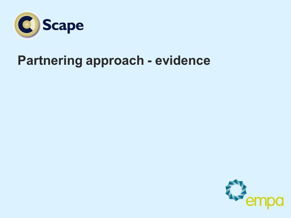 Partnering approach - evidence
