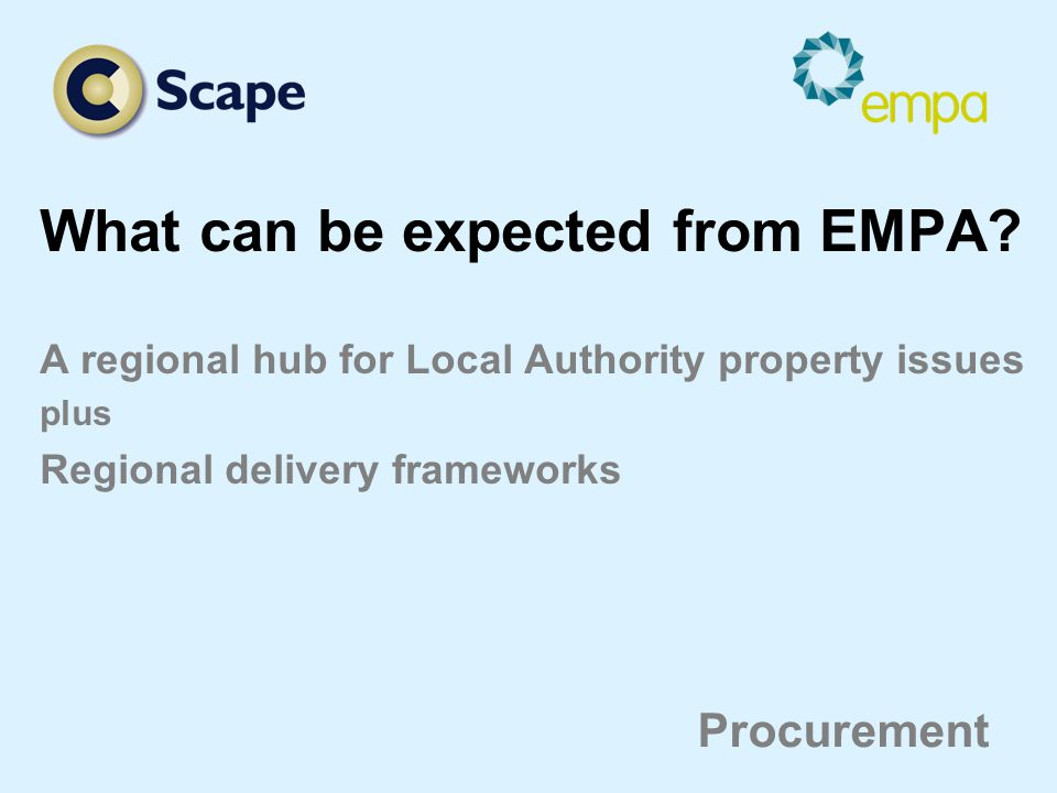 What can be expected from EMPA.