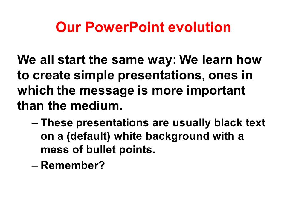 Powerpointless. PowerPoint is a tool that can be used well or poorly.