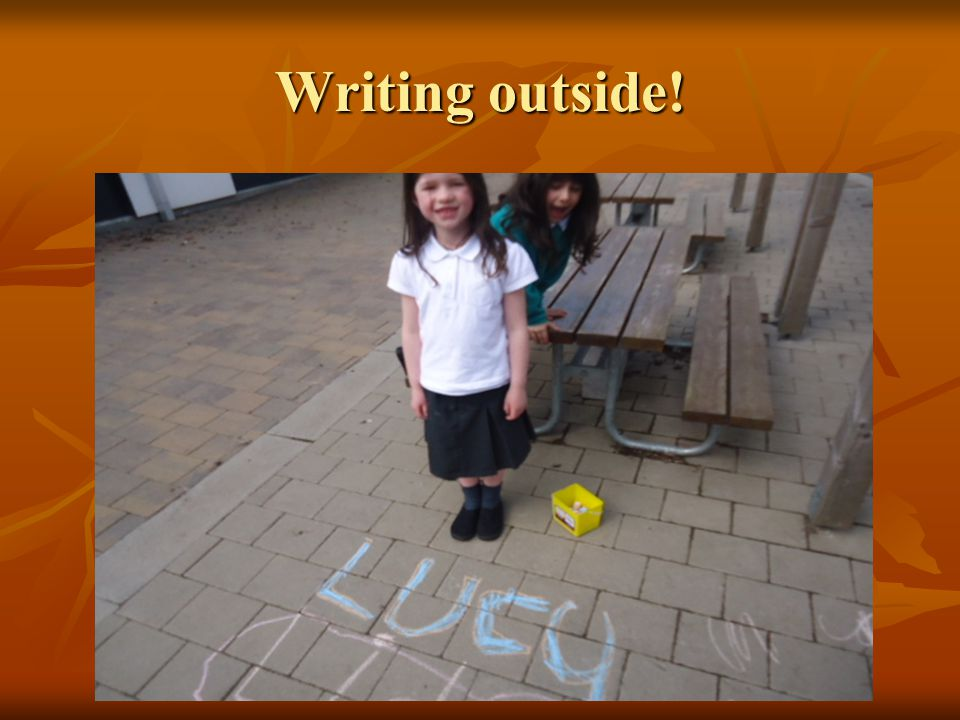Writing outside!