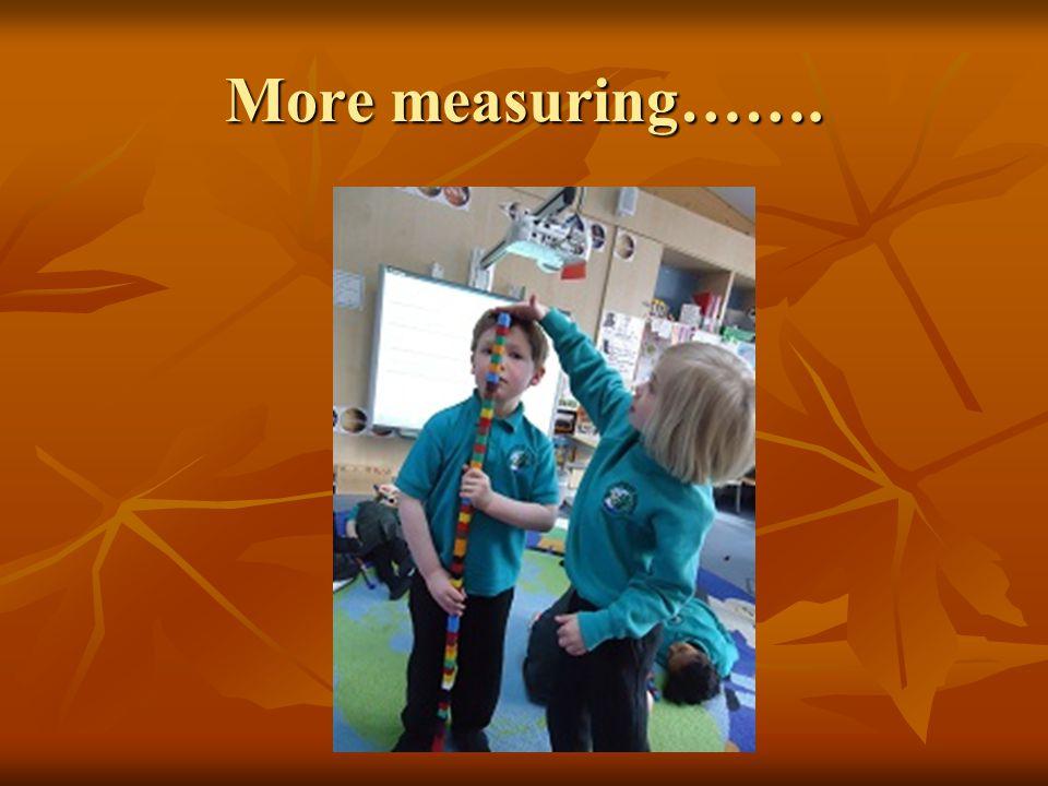 More measuring…….