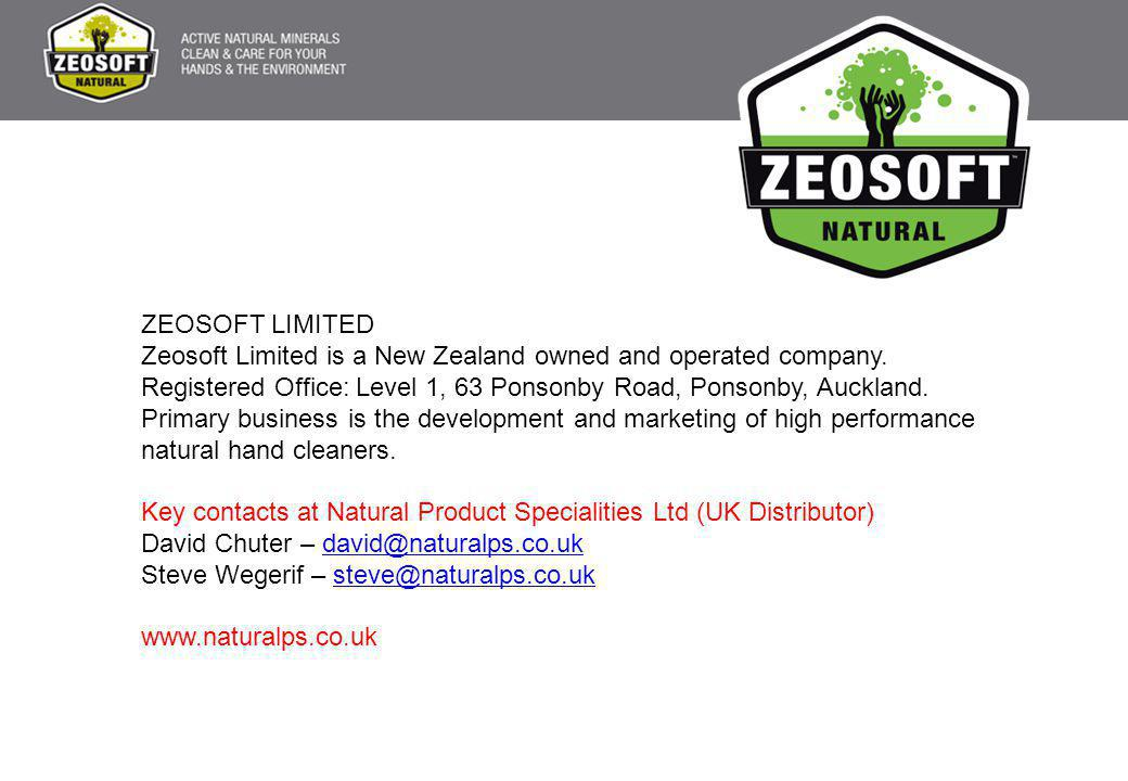 ZEOSOFT LIMITED Zeosoft Limited is a New Zealand owned and operated company.