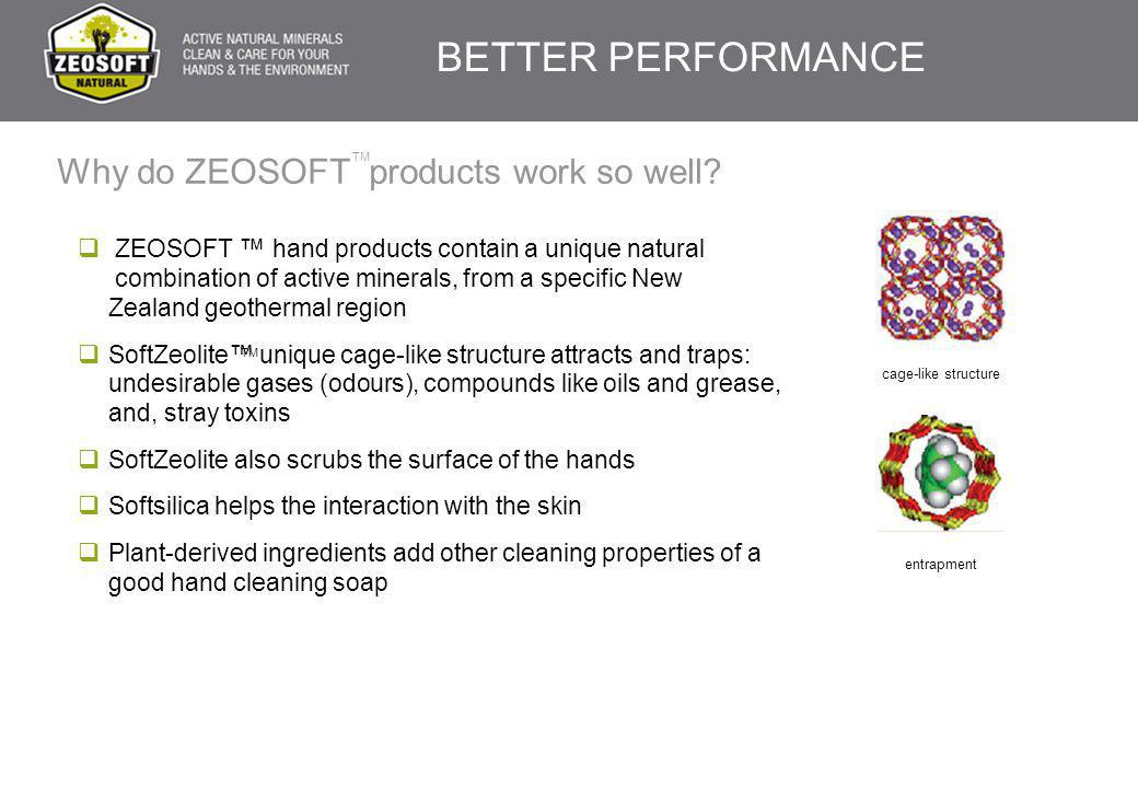 Why do ZEOSOFT products work so well?  ZEOSOFT ™ hand products contain a unique natural combination of active minerals, from a specific New Zealand g
