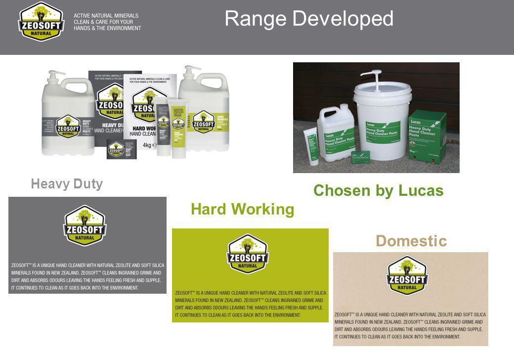 Range Developed Heavy Duty Hard Working Domestic Chosen by Lucas