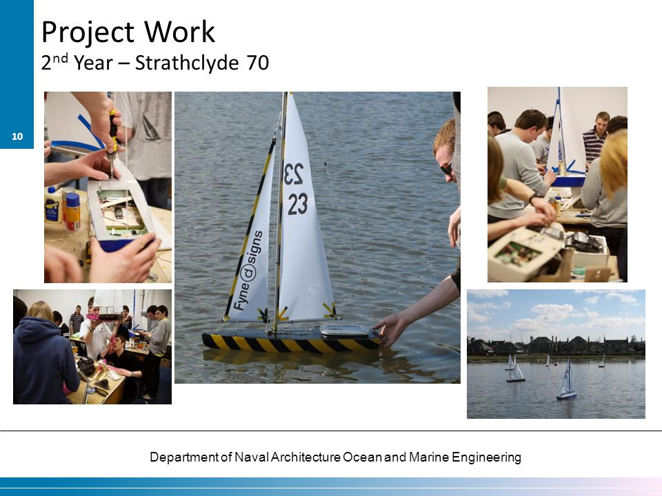 Department of Naval Architecture Ocean and Marine Engineering Project Work 10 2 nd Year – Strathclyde 70