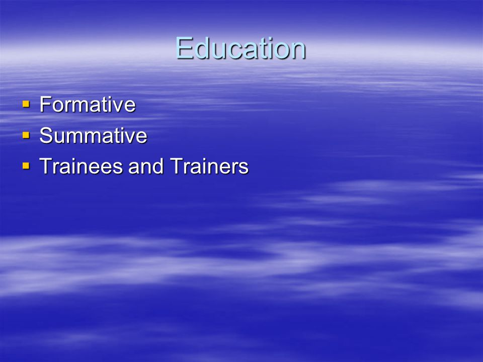 Quality assurance  Trainers/Training Practices  Existing Trainers  Hospital and GP posts  ARCP panels