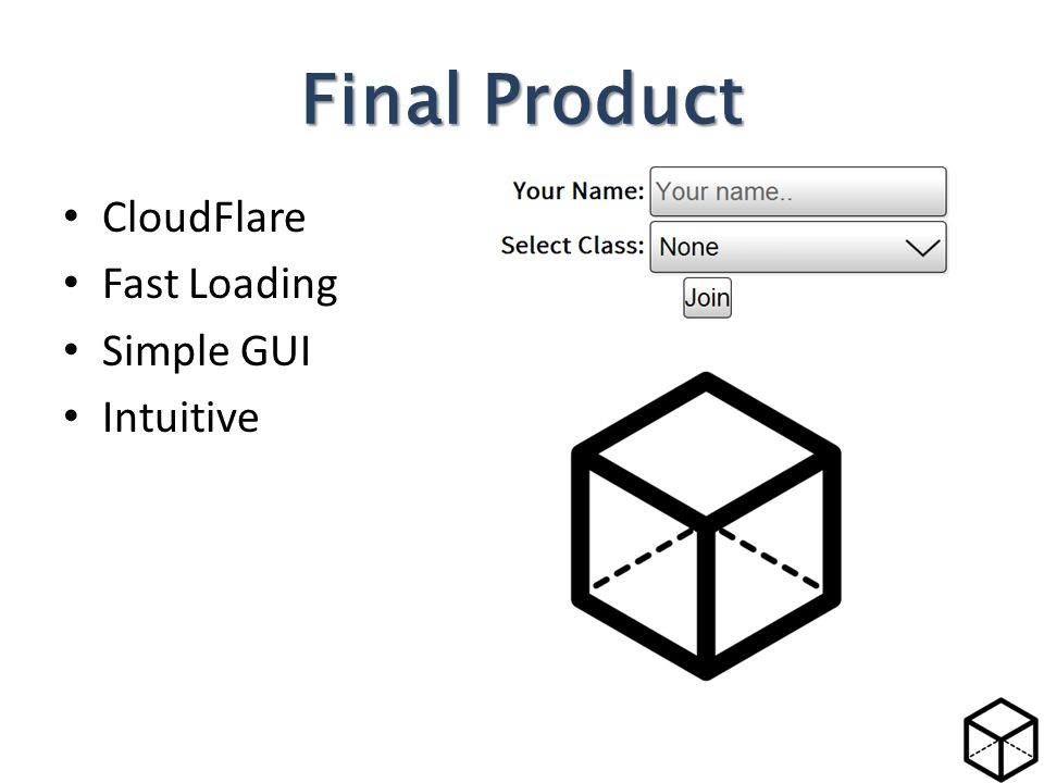 CloudFlare Fast Loading Simple GUI Intuitive Final Product
