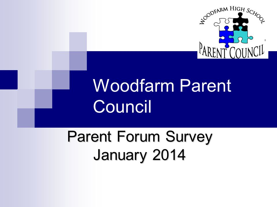 Objectives To find out the Parent Forum's views on: what they feel we are doing well what areas they feel we could improve on what ideas we could consider moving forward To enable the Parent Council to: consider how best to meet the Parent Forum's needs plan for the future
