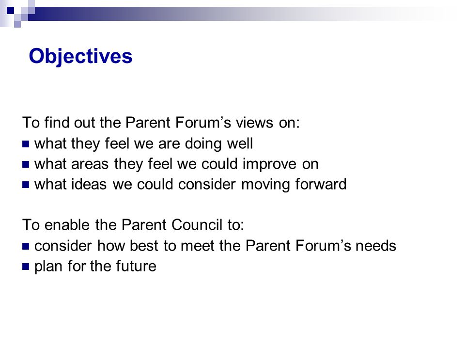 Survey Results School role 862 approx.23 parent responses 2.7% response rate approx.
